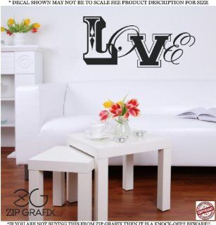 LOVE Wall Art Cute Vinyl Wall Art Saying Decal Graphics Matte Black Wall Art Wall Sayings   Wall Decor Stickers