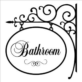 Bathroom Hang Sign wall saying vinyl lettering home decor decal stickers quotes   Decal Quotes For Bathroom