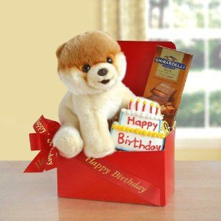 Birthday Greetings From Boo the Dog Happy Birthday Gift Basket  Gourmet Gift Items  Grocery & Gourmet Food