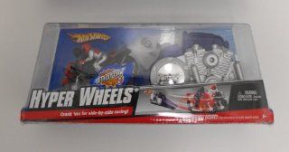 HOT WHEELS HYPER WHEELS CRANK EM FOR SIDE BY SIDE RACING MOTORCYCLE SET BY MATTEL AGES 3 (ASSORTED COLORS SENT AT RANDOM) Toys & Games