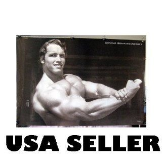 Arnold Schwarzenegger horiz big arms bodybuilding POSTER 31 x 21 black & white b&w (poster sent from USA in PVC pipe)  Prints