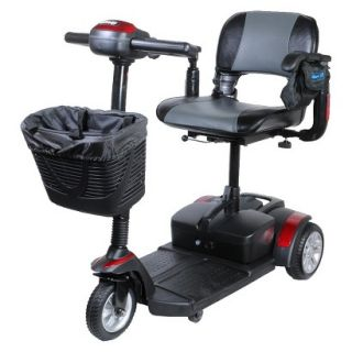Spitfire EX 1320 3 Wheel Compact Size Scooter   Metallic Red, Folding Seat,