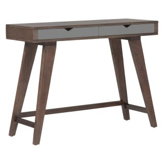 Euro Style Daniel Console Table with Drawers   Walnut / Gray   Console Tables