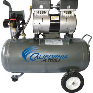 California Air Tools Ultra Quiet, Oil-Free Air Compressor — 1 HP, 6.3-Gallon, Model# 6310