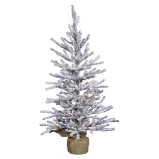 Vickerman Flocked Angel Full Unlit Christmas Tree   Christmas Trees