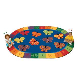 Literacy 123 ABC Butterfly Fun Kids Rug by Carpets for Kids