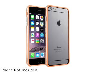 "Insten Clear/Orange TPU Bumper Case with Aluminum Button for Apple iPhone 6 Plus (5.5"") 1955550"
