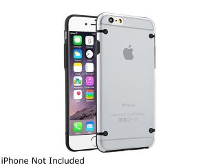 Insten Clear / Black TPU Rubber Bumper Snap in Case Cover for Apple iPhone 6 (4.7 inch) 1964157