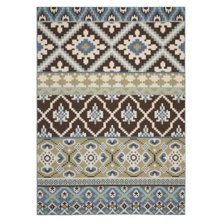 Safavieh Lana Indoor/Outdoor Area Rug   Chocolate/Blue