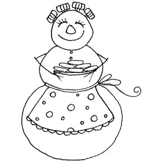 Penny Black Christmas Cookies Rubber Stamp