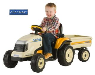 Peg Perego Cub Cadet Lawn Tractor & Trailer Battery Powered Riding Toy