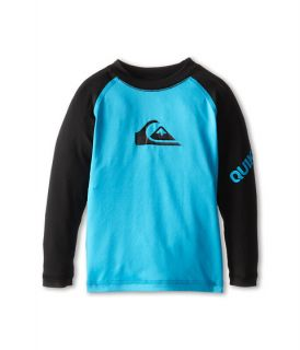 Quiksilver Kids All Time Long Sleeve Surf Shirt (Toddler) Hawaiian Ocean