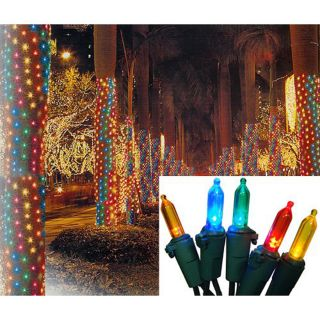 Christmas Central Sienna 2 Ft x 8 Ft Indoor/Outdoor Constant Multicolor Led Plug In Mini Christmas Net Lights