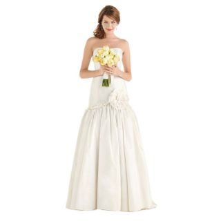 Dessy After Six Bridal Womens Strapless Wedding Ball Gown