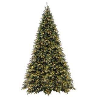 National Tree Company 12 ft. Tiffany Fir Medium Artificial Christmas Tree with Clear Lights TFMH 120LO