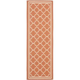 Safavieh Indoor/ Outdoor Courtyard Terracotta/ Bone Rug (710 Round)
