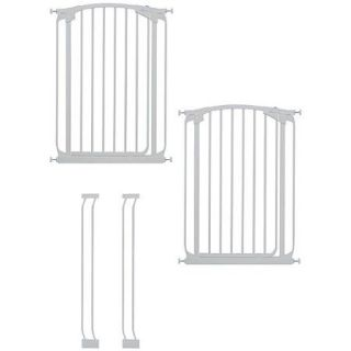 Dreambaby Chelsea Extra Tall Auto Close Security Gate Value Pack with 2 Gates and 2 Extensions, White
