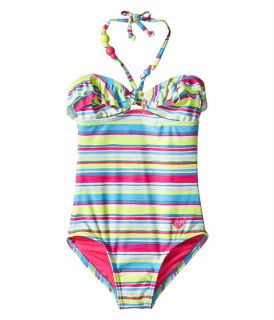 Roxy Kids Island Tiles One Piece (Big Kids) Sunny Lime