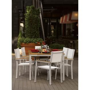 Oxford Garden Travira Commercial Grade 63 Dining Table Teak   Outdoor