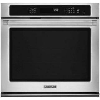 KitchenAid Pro Line Series 30 in. Single Electric Wall Oven Self Cleaning with Convection in Pro Style Stainless KEBS109BSP