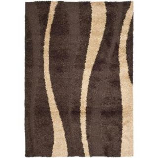 Safavieh Willow Shag Dark Brown/Beige 8 ft. 6 in. x 12 ft. Area Rug SG451 2813 9