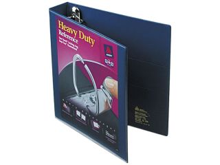 "Avery 79805 Nonstick Heavy Duty EZD Reference View Binder, 1 1/2"" Capacity, Navy Blue"
