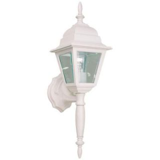 Hampton Bay White Outdoor Wall Lantern HB7023P 06