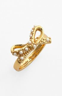 kate spade new york faux pearl bow ring