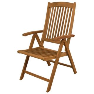 SeaTeak Avalon Folding Multi Position Deck Chair With Arms 96443