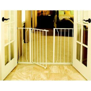 Regalo Easy Open 50 Inch Wide Baby Gate, Pressure Mount with 2 Included Extension Kits