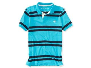 Aeropostale Mens Striped Rugby Polo Shirt 462 XS