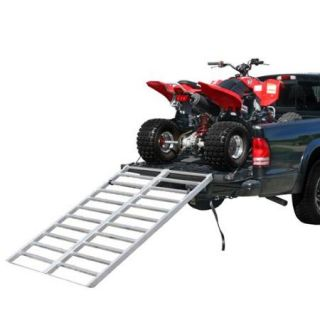 "71"" x 48"" Aluminum Bi Fold Truck or Trailer ATV Loading Ramp"