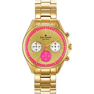 KATE SPADE   Seaport gold plated chronograph watch