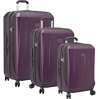 Delsey Helium Shadow 3.0 3 Piece Expandable Hard side 4 Wheeled Luggage Set, 21, 25, 29