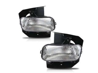 99 02 Ford Expedition Fog Lights Clear Lens Front Driving Lamps PAIR