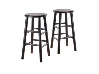 Winsome Wood Solid/Composite Bevel Seat Stool   Set of 2