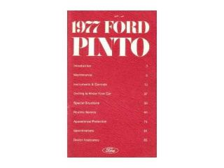1977 Ford Pinto Owners Manual User Guide Reference Operator Book Fuses Fluids