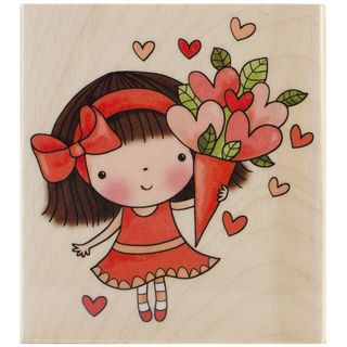 Penny Black Sweetheart Mimi Rubber Stamp
