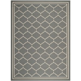 Easy to Maintain Safavieh Indoor/ Outdoor Courtyard Anthracite/ Beige