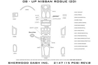 2010 Nissan Rogue Wood Dash Kits   Sherwood Innovations 2147 R   Sherwood Innovations Dash Kits