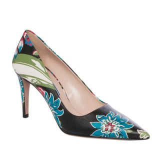 Prada Floral print Leather Point toe Pumps   16303025