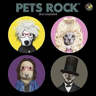 2016 TF Publishing 7 x 7 Pets Rock Mini Calendar (16 2156)