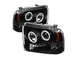 Spyder Auto Ford F250/350/450 Super Duty 05 07 CCFL LED ( Replaceable LEDs ) Projector Headlights   Black PRO YD FS05 CCFL BK