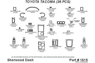 2010, 2011 Toyota Tacoma Wood Dash Kits   Sherwood Innovations 1615 R   Sherwood Innovations Dash Kits