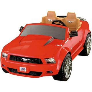Fisher Price Power Wheels Red Ford Mustang 12 Volt Battery Powered Ride On