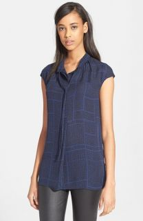 Vince Dot Grid Blouse