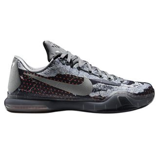 Nike Kobe X   Mens   Basketball   Shoes   Bryant, Kobe   Tumbled Grey/Night Silver/White/Black