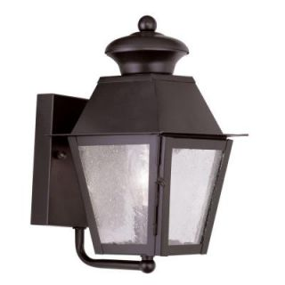 Filament Design Providence Wall Mount 1 Light Outdoor Bronze Incandescent Lantern CLI MEN2160 07