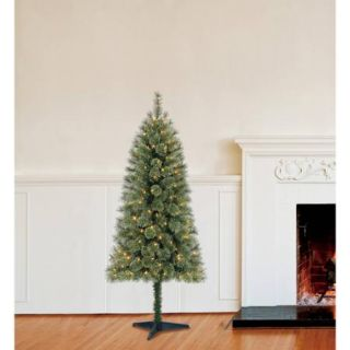 Holiday Time Pre Lit 6' Carson Cashmere Spruce Artificial Christmas Tree, Green, Color Changing Lights