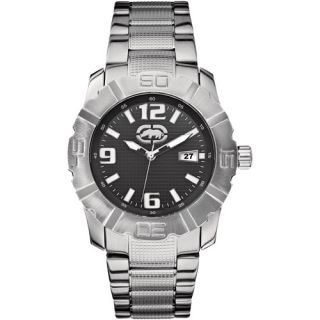 Rhino by Marc Ecko Men's Black Dial Watch, Silver Tone
